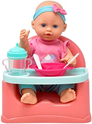 Gift Boutique Baby Doll Feeding Set 14 Inch Doll Booster Seat High Chair Feeding Table with product image