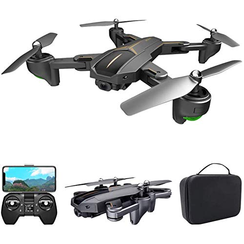 KLJJQAQ GPS Drone for Adults, 5G WiFi FPV Drone with 4K Camera, Optical Flow Positioning RC Quadcopter with Headless Mode, Altitude Hold, Follow Me, Auto Return,1 Battery and Storage Bag