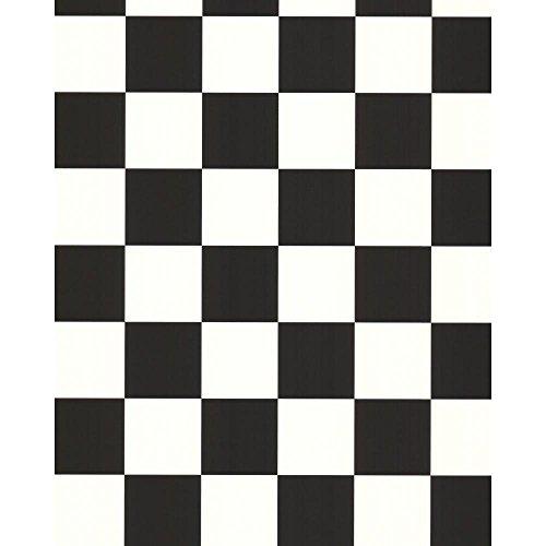 Preisvergleich Produktbild York Wallcoverings schwarz und weiß Book Check Tapete,  Black .165,  Wallpaper