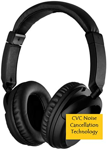 Wireless Bluetooth Headphones, Best Sweatproof Earphones for Traveling, Work, Gaming, Relaxation & Hands-Free Calling, Secure Fit Cordless Headset with Built-in Mic & Wired Connect 3.5mm