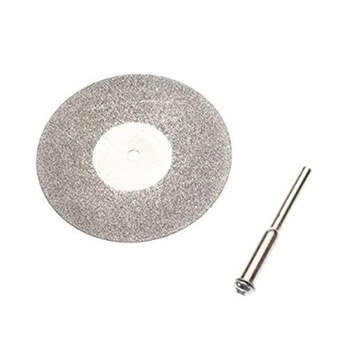 KTZAJO Reliable 10 x Diamond Cutting Wheel Discs Blades + 2 Arbor Shaft for Rotary Tools 18mm (Color : Silver, Outer Diameters : 18mm) (Color : Silver)