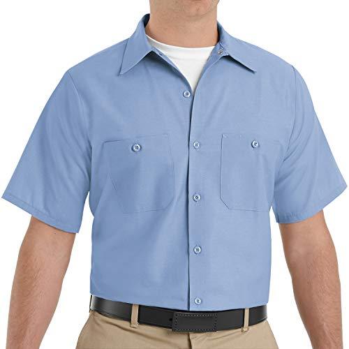 Red Kap Herren Industrial Shirt, Short Sleeve Work Utility Hemd, hellblau, 5X-Groß