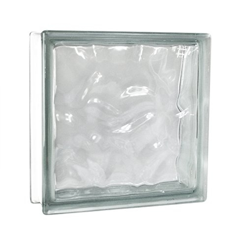 2 Stück FUCHS Glassteine Wolke Klar 30x30x10 cm