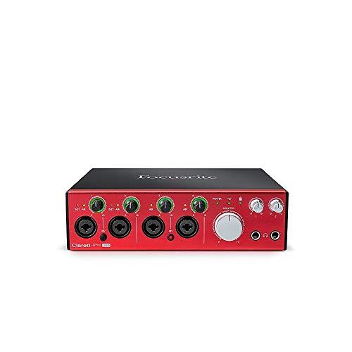 Focusrite Clarett Pre USB interfaccia audio con 10 ingressi/uscite, Red Black