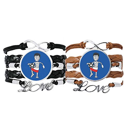 DIYthinker Polnische Kniebandage, Fußball-Armband, Handschlaufe, Lederband, Doppelset, Geschenk