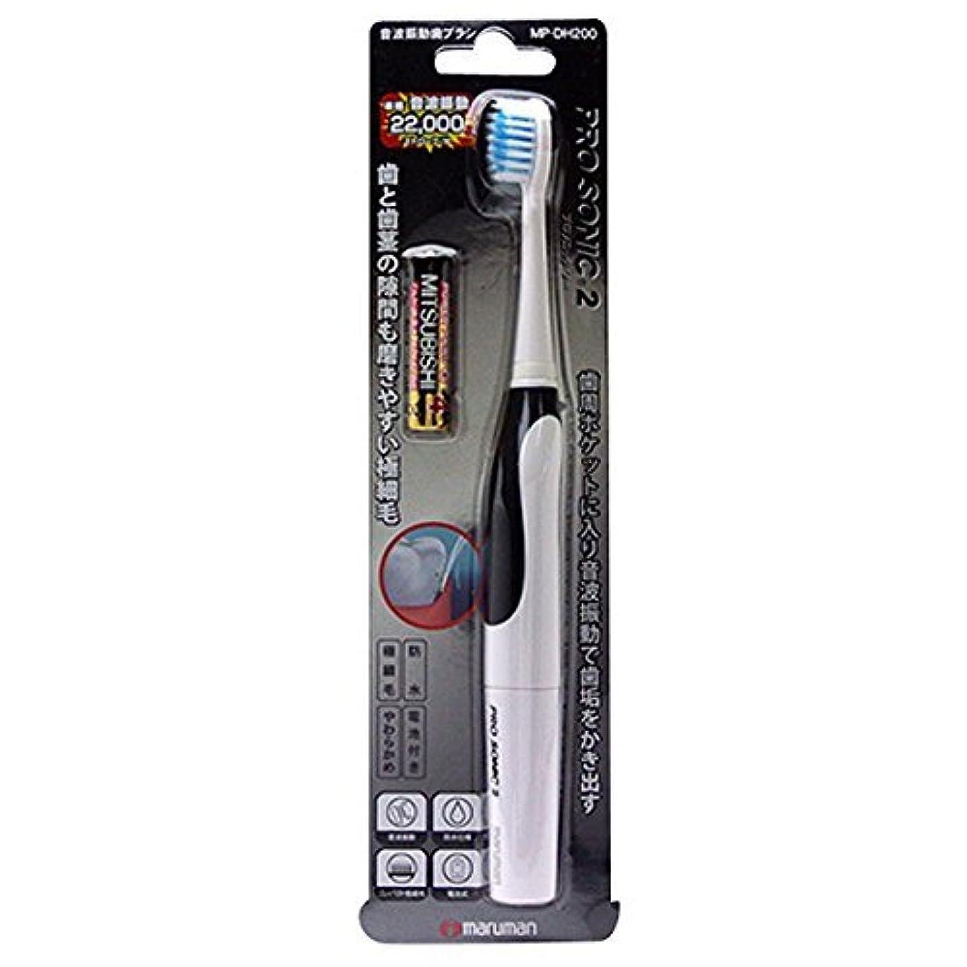 も法王優しい音波振動歯ブラシ PROSONIC2(プロソニック ツー) MP-DH200BK ブラック