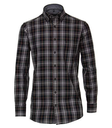 Casa Moda - Comfort Fit - Bügelleichtes Herren Hemd mit Button Down-Kragen (493313100), Größe:XXL, Farbe:Anthrazit (750)