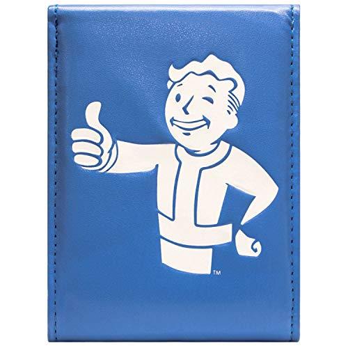 Cartera de Fallout 4 Pulgares hacia Arriba Abotonado Azul