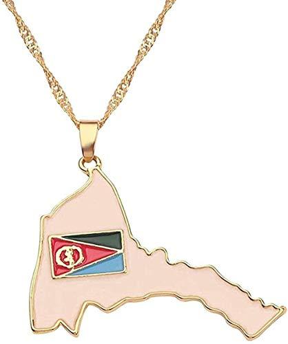 WYDSFWL Collar con Colgante de Bandera Nacional de Red, Collar para Mujer, Jamaica, Nigeria, Ghana, Jamaica, Guyana, Tarjetas, Collares, Collar de joyería del Condado