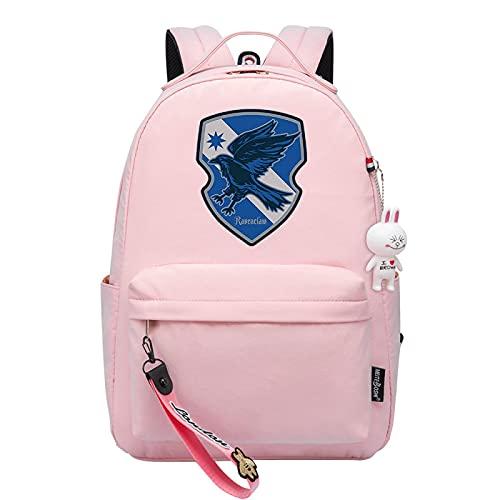 MMZ Mochila, mochila escolar, de viaje o de trabajo con funda para tableta, mochila informal para niños Slytherin (Rosa)