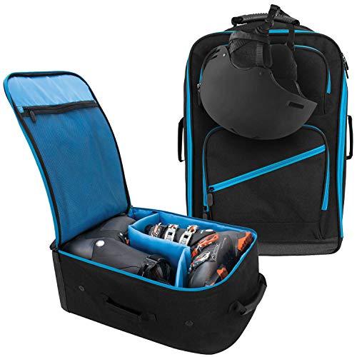 Winterial Mochila para Botas de esquí y Snowboard, Resistente al Agua con Almacenamiento Adicional, Ajuste Universal, Color Negro