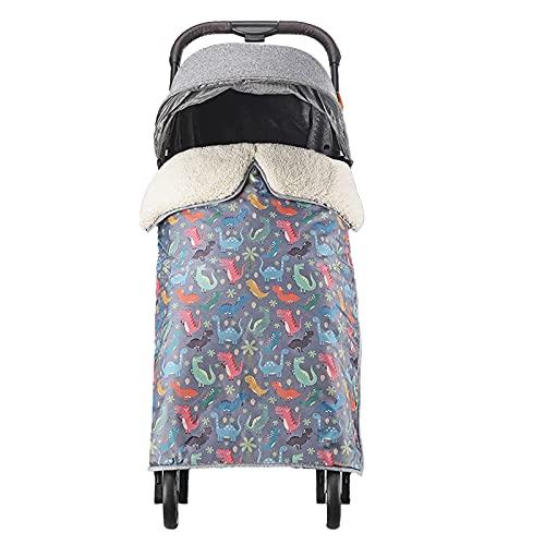 Petyoung Cochecito de Bebé Manta a Prueba de Viento 4- Capa Gruesa Manta de Lana Caliente Impermeable Cochecito de Bebé Saco de Dormir Adecuado para Caminar O Viajar a Diario