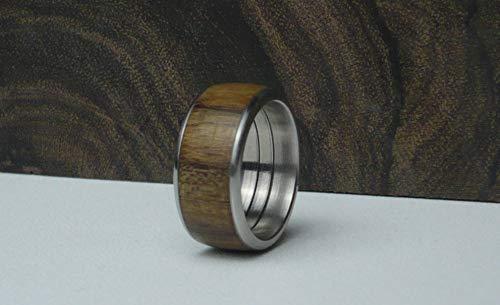 Holzring Edelstahl aus Mutenye, Größe: 54 (17mm)