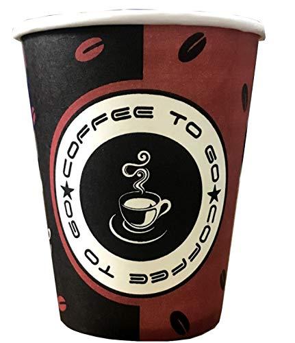 TRENDSKY BIOLOGISCH ABBAUBAR, Made IN Germany 1000 Stück 300ml Premium Hartpapier Kaffeebecher Einweg Pappbecher Cups Coffee to go 0,3l