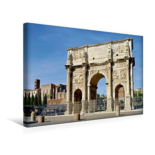 CALVENDO Premium Lienzo de Tela 45 cm x 30 cm Horizontal, Arco Constante, Imagen sobre Bastidor, Listo en Lienzo auténtico, impresión en Lienzo: Roma – La Ciudad eterna (calvento Lugar)