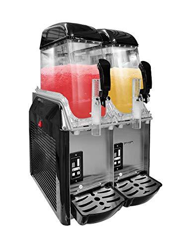 WantJoin Slushie Maker Machine, 2x12L Commercial Ice Slush Maker Dual Bowl Margarita Smoothie Frozen Drink Slush Machine for Cafes Restaurants Snack Bars, 110V 300W