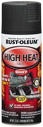 Rust-Oleum, Flat Black 248903 Automotive 12-Ounce High Heat 2000 Degree Spray Paint
