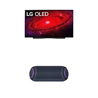 "LG OLED65CXPUA Alexa Built-in CX 65"" 4K Smart OLED TV (2020) w/ PL7 XBOOM Go Water-Resistant Wireless Bluetooth Party Speaker (B08NYHW4GF) 