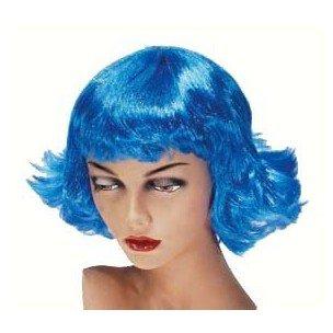 PARTYLINE Perruque neon retro bleu