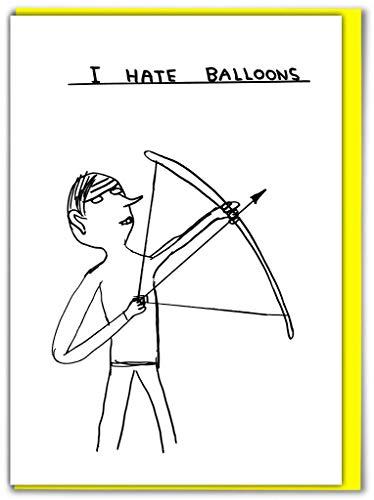 Funny Humorvolle 'David Shrigley I Hate Luftballons