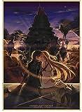SANLIUJIU Canvas Poster Leaguevideojuego Sword Art Online Kirito Asuna Japan Anime Prints Art Wall Pictures For Living Room Home Deco 50 * 70Cm Exquisita Mano De Obra Sin Marco