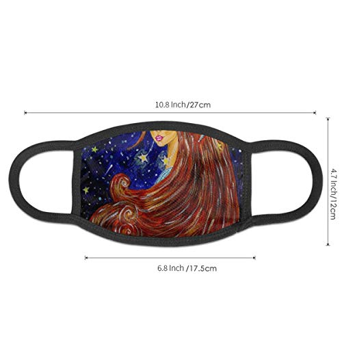 N/P Beautiful Woman Flying Antidust Mouth Mask Soft Reusable for Men and Women for Running Motorcycling Customized