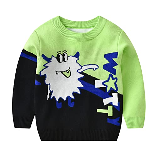 pryyou Best Gift for Unisex-Baby Ugly Christmas Sweater Lovely Crewneck Blouse for Holiday Party Knitted Pullover