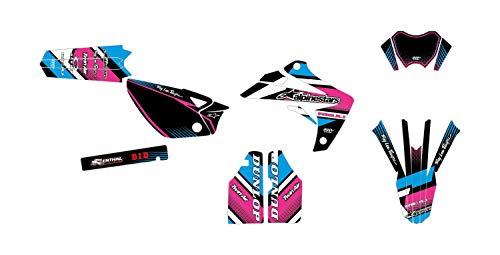 Kit de decoración para motocross RIEJU MRT 50 Comics Rosa Azul