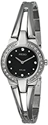 SUP205 Classic Solar Watch with Black Dial and Rhinestones