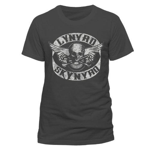 Collectors Mine Herren T-Shirt RTLS01010 Lynyrd Skynyrd - Biker Patch, Gr. 52 (XL), Grau (Grau)