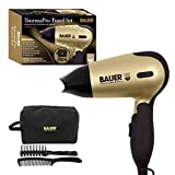 Bauer Professional TourmaPro 1200w Hair Dryer Travel Set with Soft Touch Carry Case, Hairbrush & Comb 38850