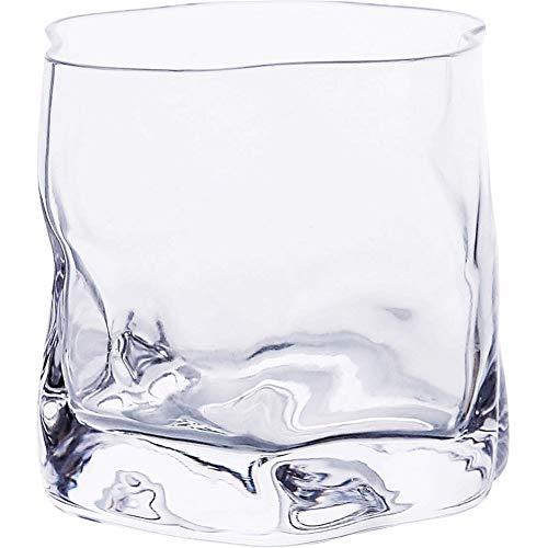 Home+ Verres à Whisky, 2pcs / Lot de Verre Irrégulière Verre À Vin Cristallerie Verre d'eau Au Lave-Vaisselle Tumbler Verre À Vin