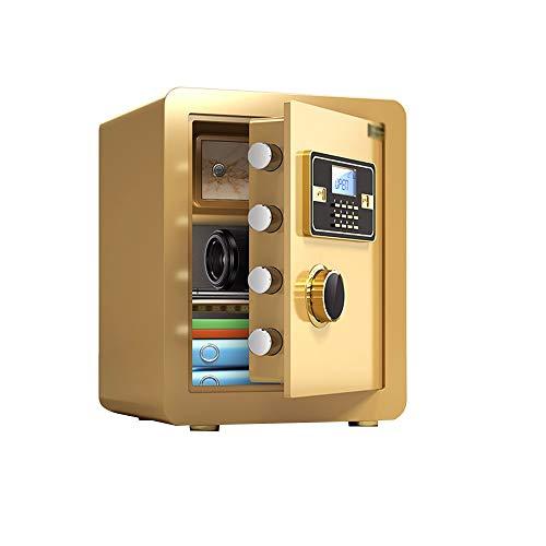 QFFL Tresore Safe Safes, Haushaltselektronik Passwort Safe Password Lock Box Cash Box mit Alarmfunktion 38x31x45cm (Color : Gold, Size : 38x33x45cm)