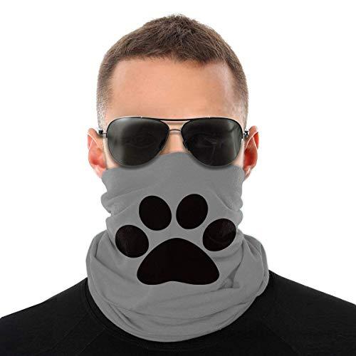 ENZOOIHUI Dog Paw Print Novelty Neck Gaiter Unisex Adult Windproof Mask Dust Sports Face Mask Half Balaclava Weather Bandana Women Men