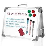 StillCool Pizarras Magnéticas, 12 × 15,6 in Pizarra Plegable para Niños Doble Lados con 3...