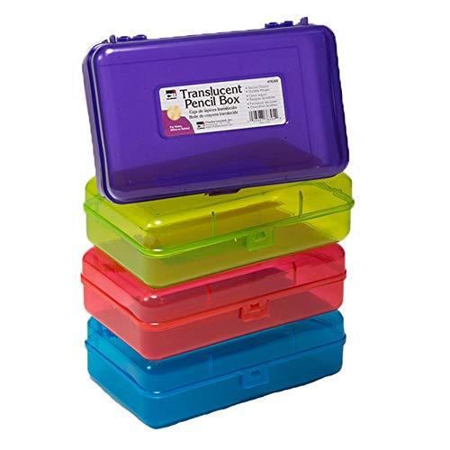 Translucent Pencil Box, Assorted Colors
