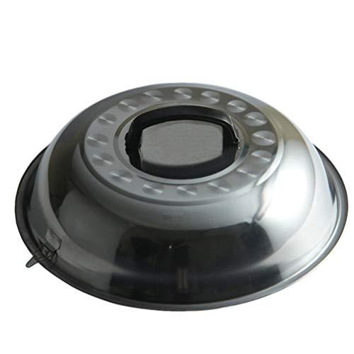HEMOTON Stainless Steel Pot Lid Universal Pan Lid, Frying Pan Cover, Anti Oil Splashing Pot Cover, Cookware Lids for Pots Pans Fry Pan Skillet, 30cm