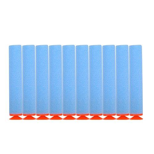 100 stücke Foam Bullet, 10 Farben Toy Gun Soft Refill Kugeln Darts Eva-Schaum für Elite(Hellblau)