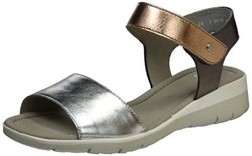araLido-Sand - Sandalias con Cuña Mujer, Color Gris, Talla 42 EU