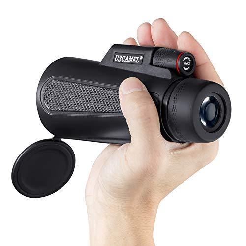 Monoculaire Adultes Puissante, Télescope Optique 10X42 Longue-vue Compact Léger