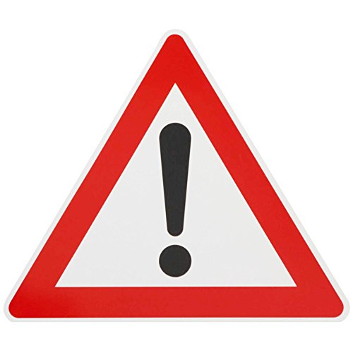 ORIGINAL Verkehrszeichen Nr. 101 ACHTUNG GEFAHRENSTELLE mit Symbol Ausrufezeichen 630mm SL Verkehrsschild RAL-Gütezeichen Schild Verkehrsschilder Schilder Warnschild Straßenschild Straßenzeichen Warnzeichen Strassenschilder Hinweisschild nach StVO