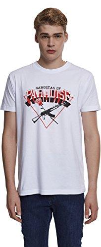 Mister Tee Herren Gangstas of Paradise Tee T-Shirt, White, S