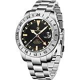 Pagani Design Men's Automatic GMT Watch Sapphire Glass Fashion Business Stainless Steel Mechanical Wristwatch