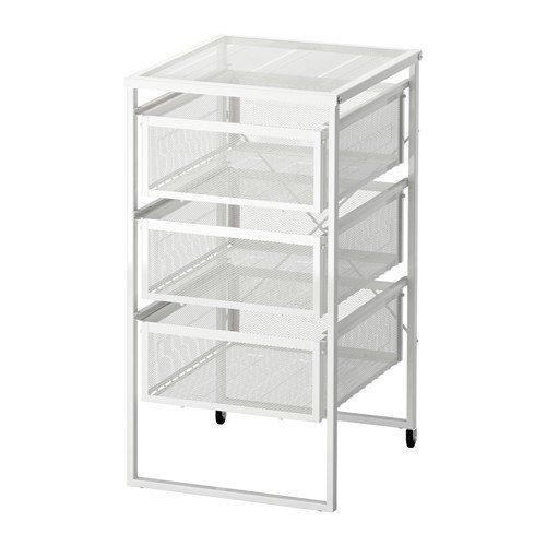 IKEA LENNART Schubladenelement in weiß; mit Rollen
