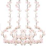 4 Pz 180cm Fiori di Ciliegio Artificiali in Seta Fiore Appeso Vite Ghirlande di Falso Sakura Finti Ghirlanda per Matrimonio Casa Giardino Nozze Decorazioni