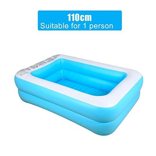SDGDFXCHN Aufblasbarer Pool, Badewannen Aufgeblasene Wannen Verschleißfester Pool mit dickem Ball PVC-Klappbarer, langlebiger Swim Center Aufblasbarer Pool Family Kid Adult Bath Tubs