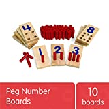 Excellerations 2.5 X 5 inches, Peg Number Boards Wooden,...