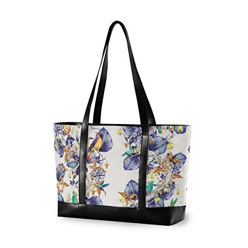 UNIIK Blue Hummingbirds Pattern Rain Forest Laptop Tote Bag