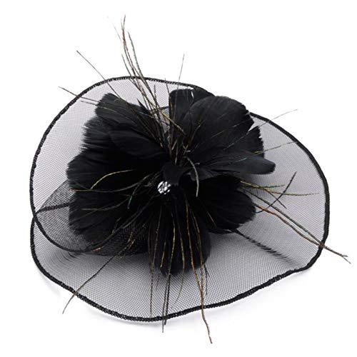 YOPOTIKA Tocado de plumas para mujer, para boda, fotografía, para niñas y...