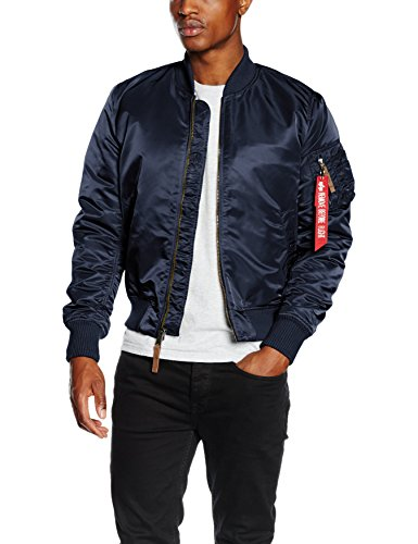 Alpha Industries Herren Jacke MA-1 VF 59, Blau (Rep.Blue 07), Medium